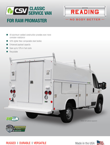 CSV for Ram ProMaster Product Literature