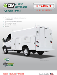 CSV for Ford Transit Product Literature