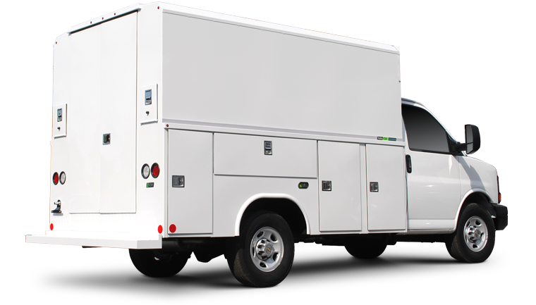 Enclosed Aluminum Van Body Reading Truck Body