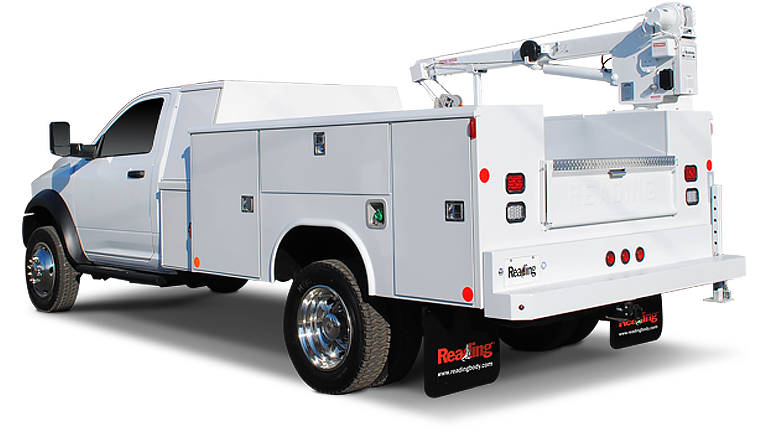 Action can upfit the Cranemaster service truck bodies provide the structural integrity required for safe crane operation in a variety of terrain and conditions along with expansive compartment space for your crew.