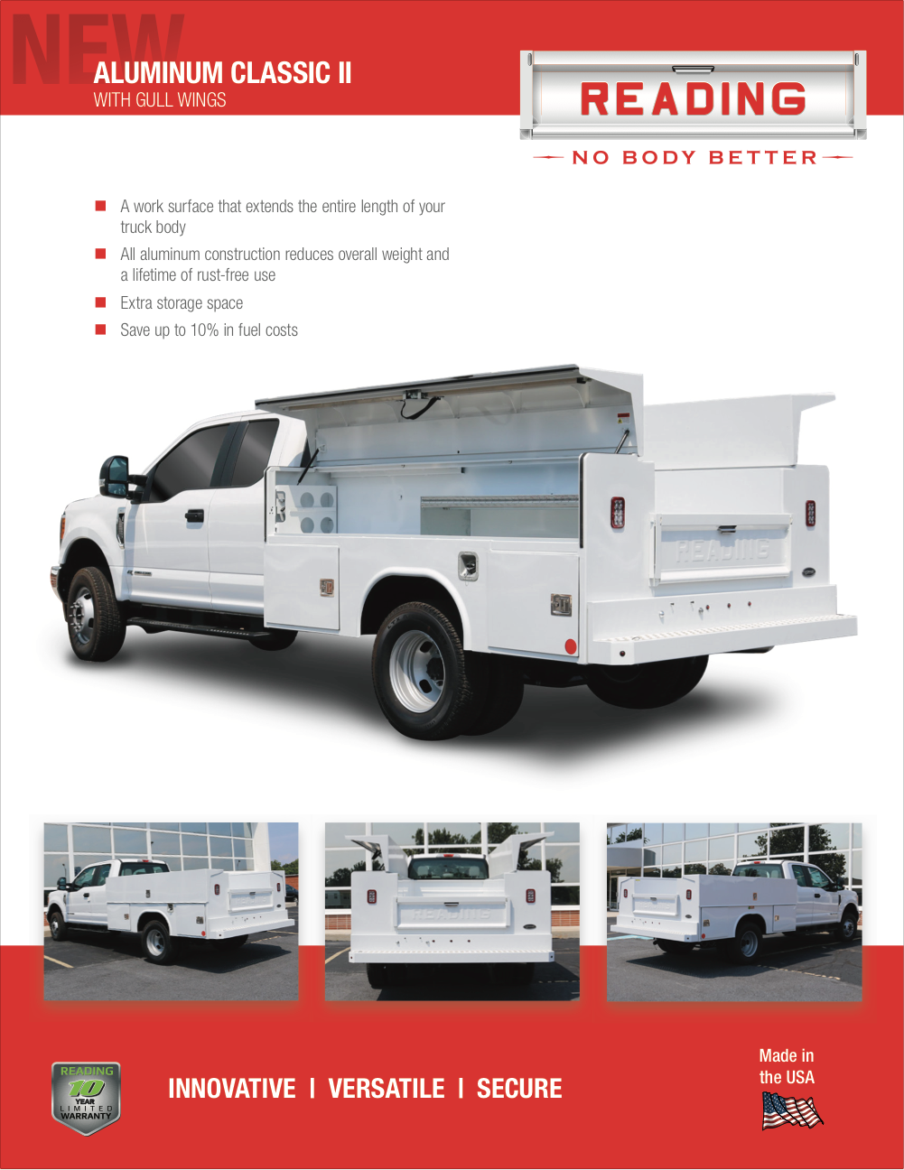 Aluminum Classic II Service Body with Gull Wing Doors Product Literature