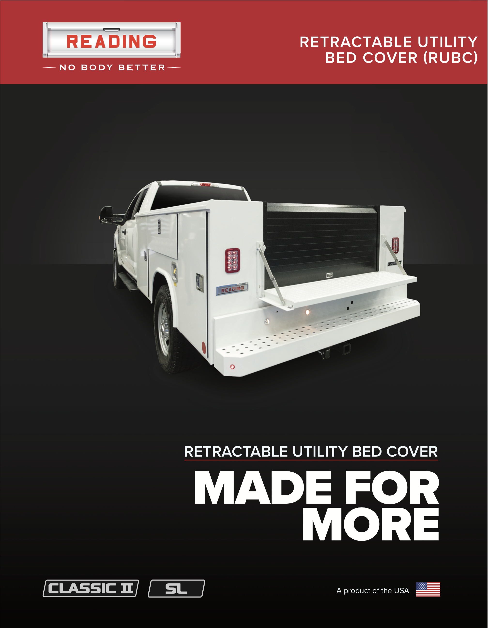 RUBC (Retractable Utility Bed Cover) Product Literature