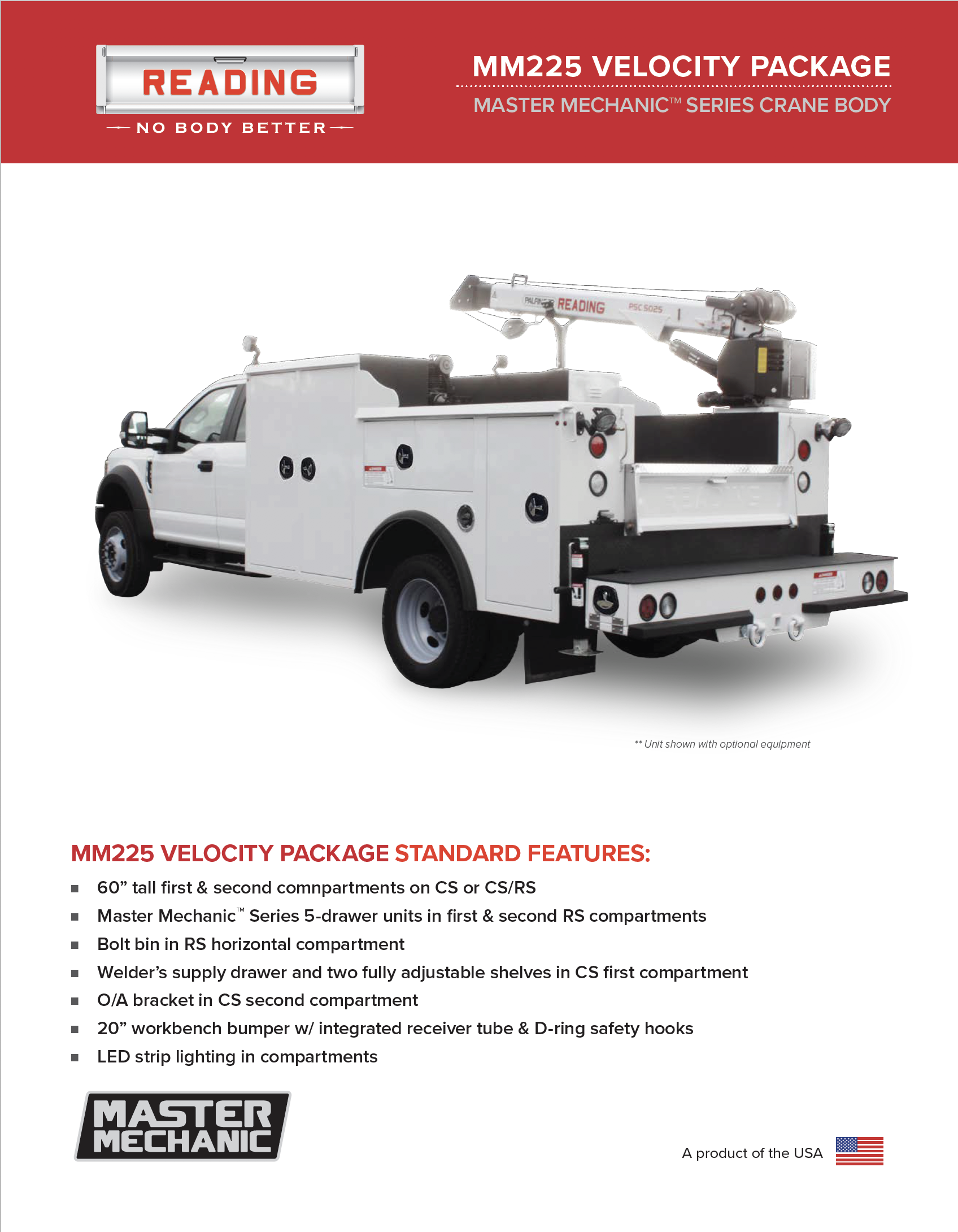 MM225 Velocity Package Product Literature