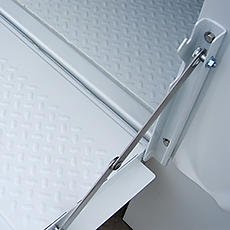 Removable Stainless Steel Tailgate Knee Braces