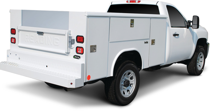 Service Body Tailgate : Storage boxes truck body equipment reading