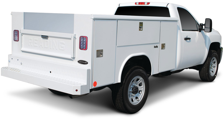 Action can upfit Reading aluminum truck bodies that are up to 50 percent lighter than comparable steel bodies and 10 percent lighter than composite fiberglass. In addition, because of aluminum's natural corrosion resistance, their aluminum service bodies offer exceptional durability.