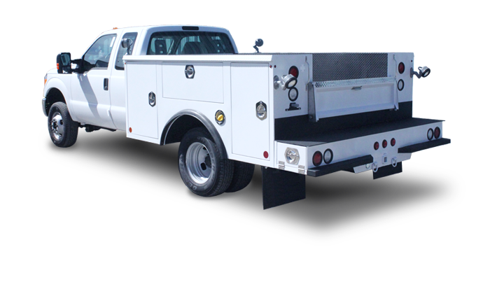 100-Series heavy-duty service bodies are available with a standard 9-foot body designed for a DRW cab and chassis with a 60-inch cab-to-axle. Like the rest of our Master Mechanic Series line, these versatile utility bodies are built modularly, so you have the power to configure the setup to your unique requirements.